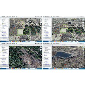 interactive mapping of bird trails / Reservoir Woods 4